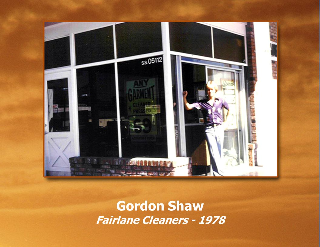 Gordon Shaw Fairlane Cleaners - 1984