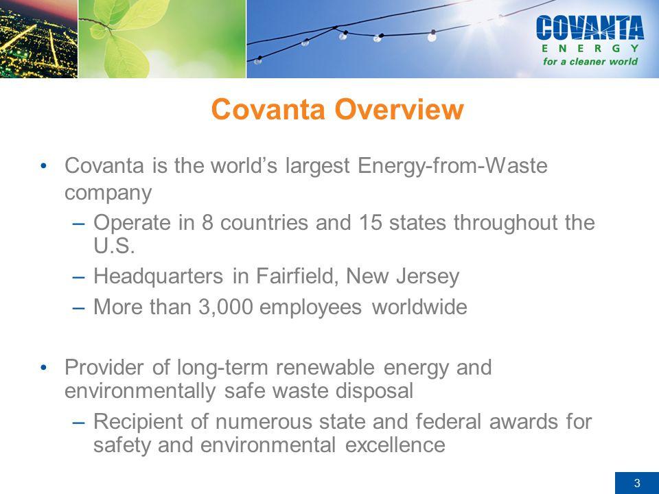 14 COVANTA FAIRFAX – Partnership/ Business Model