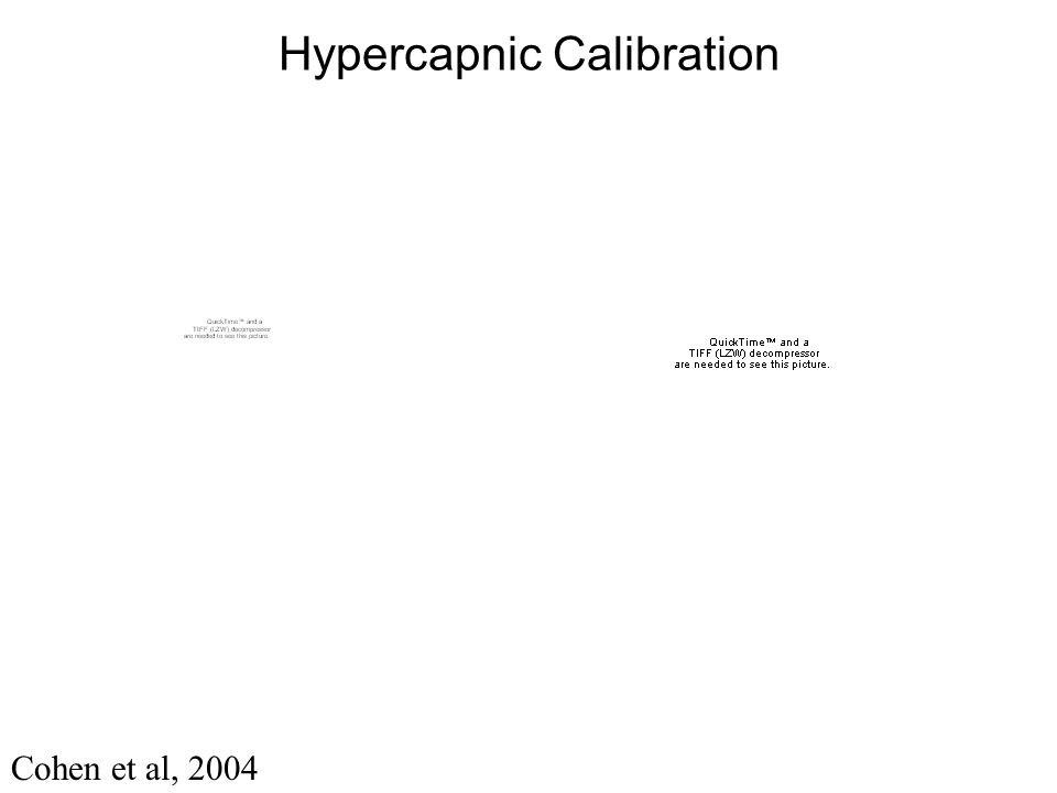 Hypercapnic Calibration Cohen et al, 2004