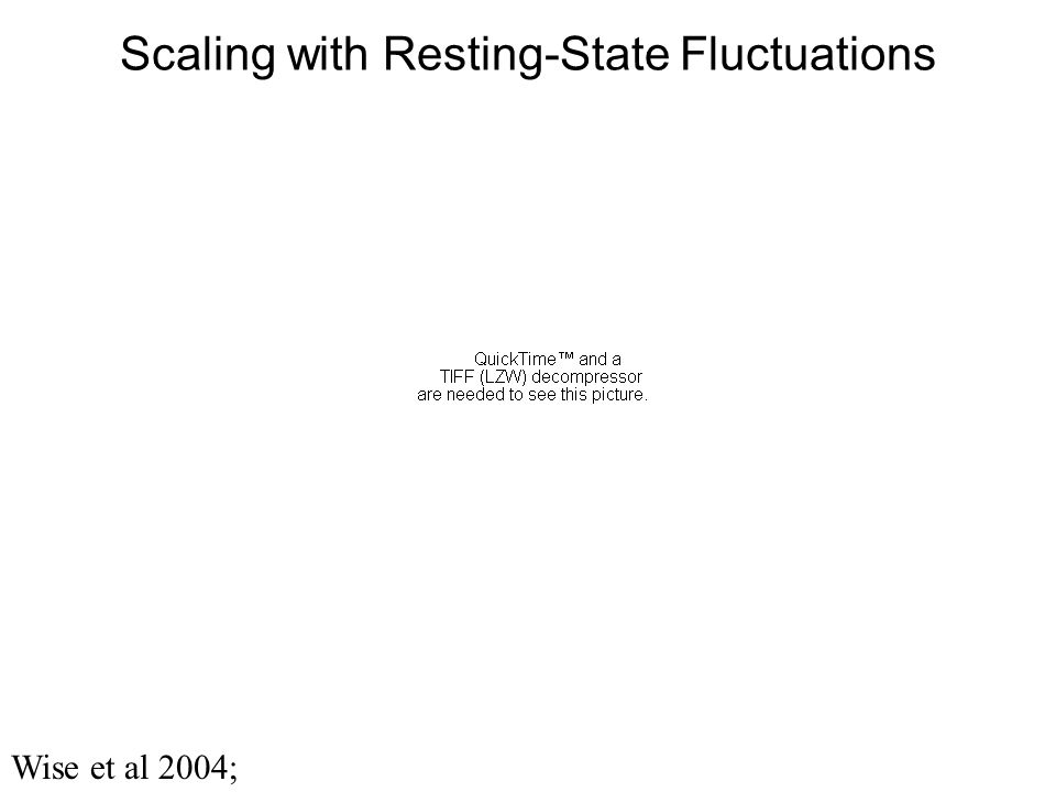 Scaling with Resting-State Fluctuations Wise et al 2004;