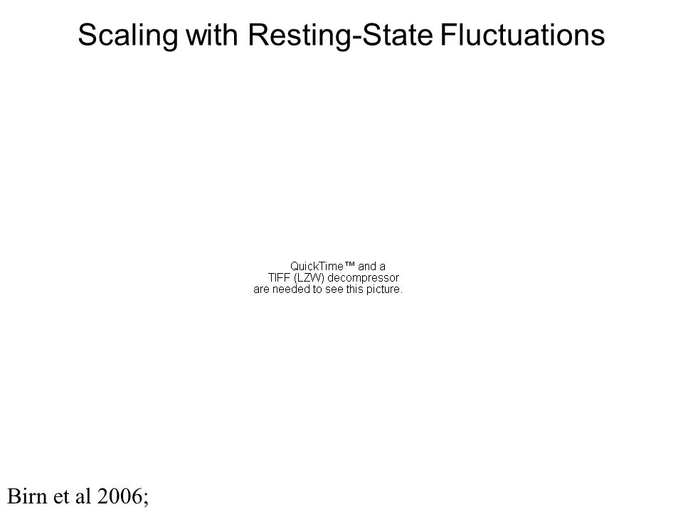 Scaling with Resting-State Fluctuations Birn et al 2006;