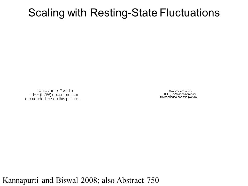 Scaling with Resting-State Fluctuations Kannapurti and Biswal 2008; also Abstract 750