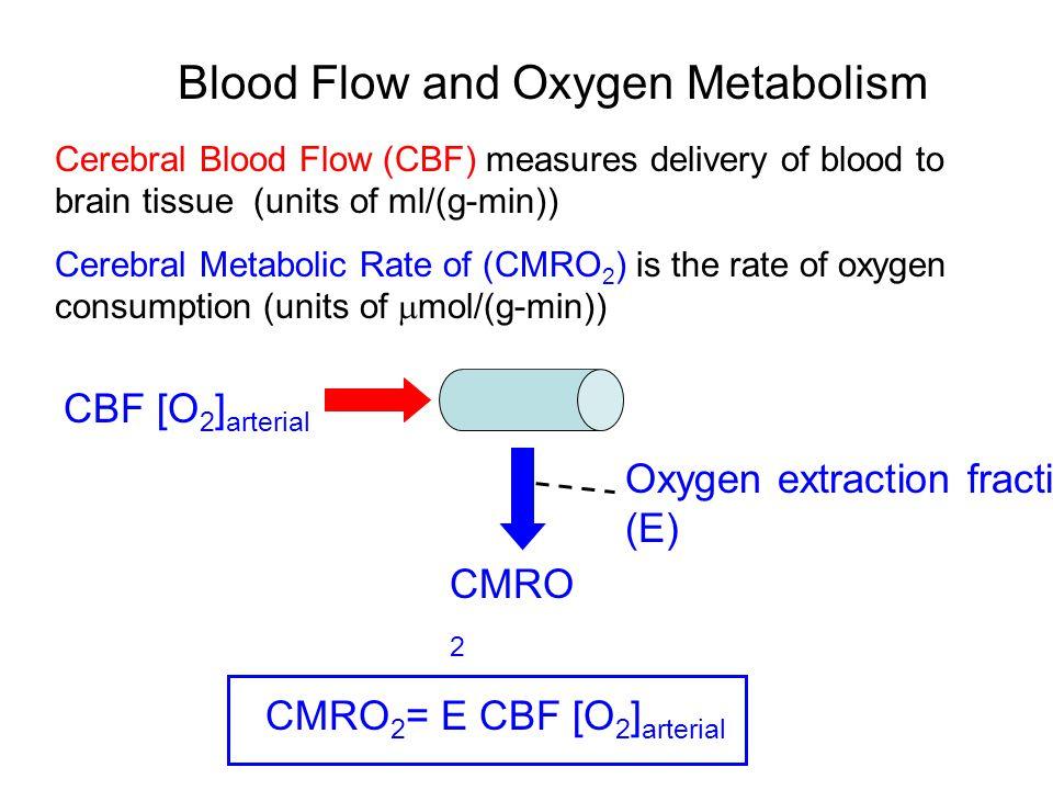 Deoxyhemoglobin = CMRO 2 / 4CBF CMRO 2 [dHB] venous CBF [dHB] venous O2O2 [dHB] venous  E [O 2 ] arterial / 4