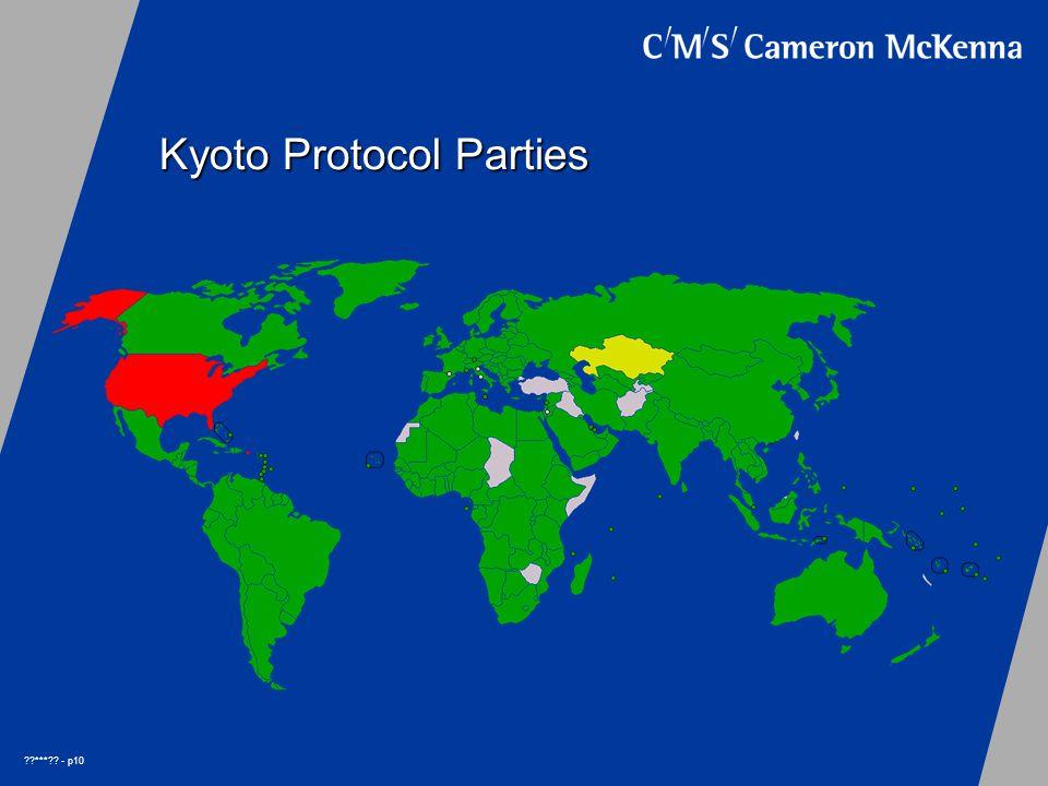 *** - p10 Kyoto Protocol Parties