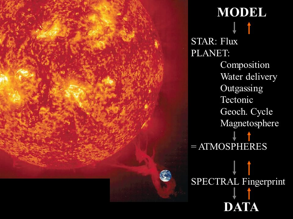 20 MODEL STAR: Flux PLANET: Composition Water delivery Outgassing Tectonic Geoch.