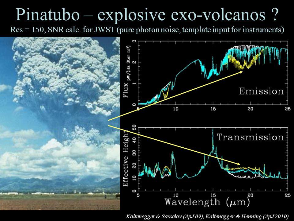 29 Pinatubo – explosive exo-volcanos . Res = 150, SNR calc.