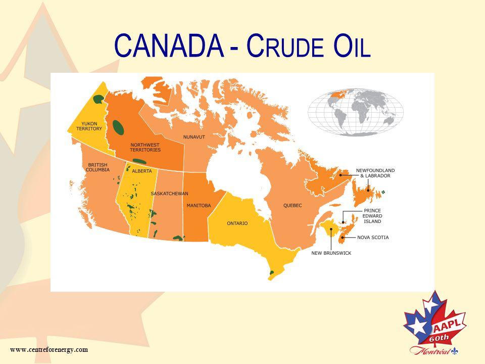 CANADA - C RUDE O IL P IPELINE www.centreforenergy.com