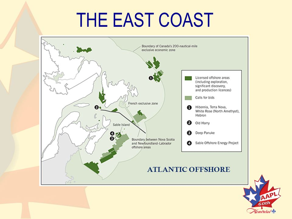 THE EAST COAST ATLANTIC OFFSHORE