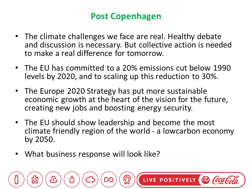 Post Copenhagen The climate challenges we face are real.