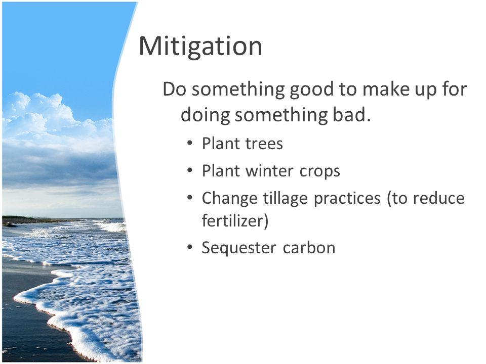 Mitigation Do something good to make up for doing something bad.