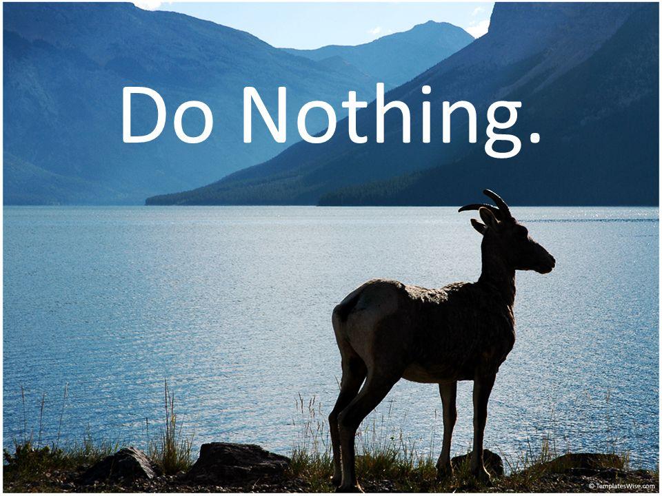 Do Nothing.