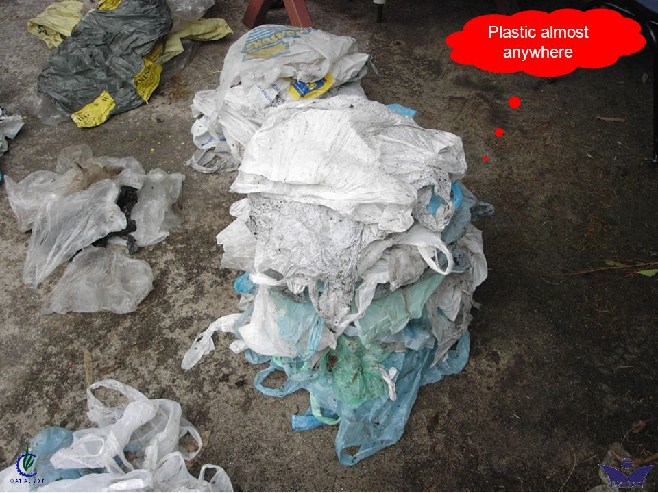Plastic almost anywhere