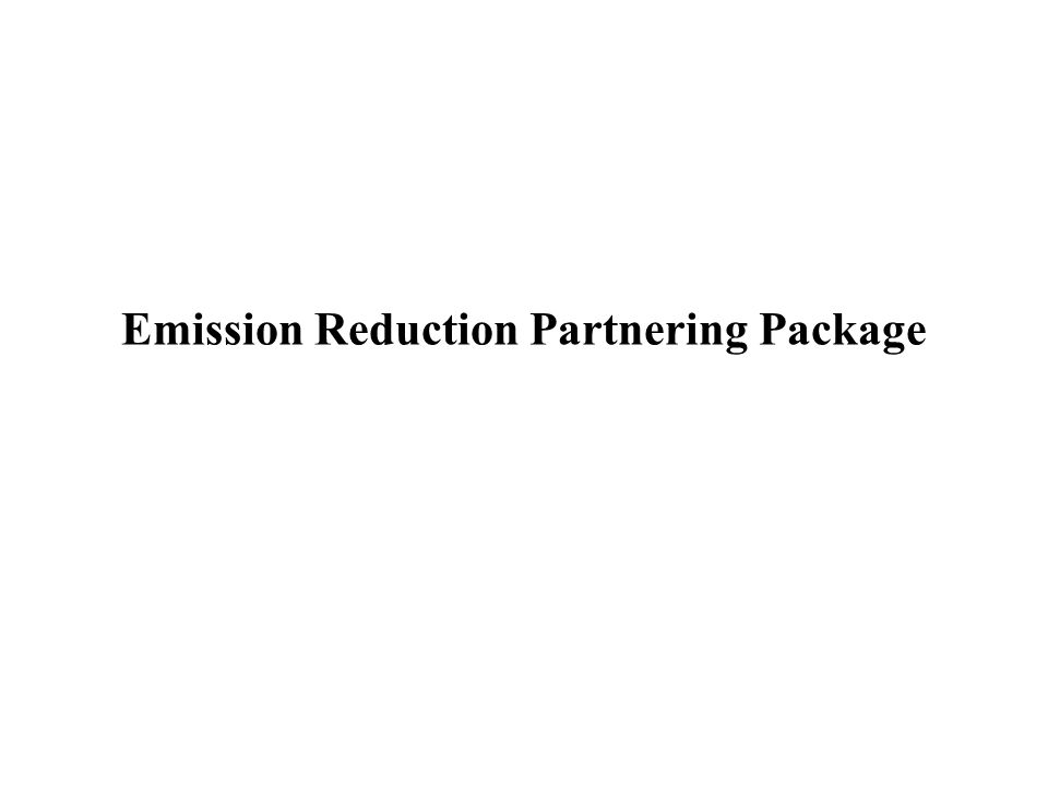 Emission Reduction Partnering Package