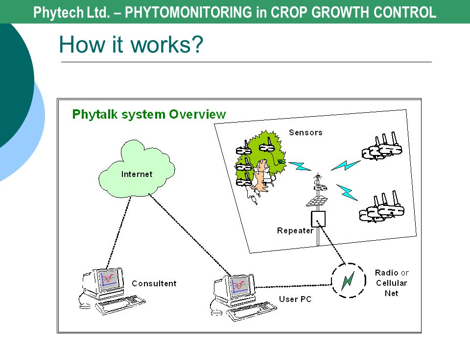 How it works? Phytech Ltd. – PHYTOMONITORING in CROP GROWTH CONTROL
