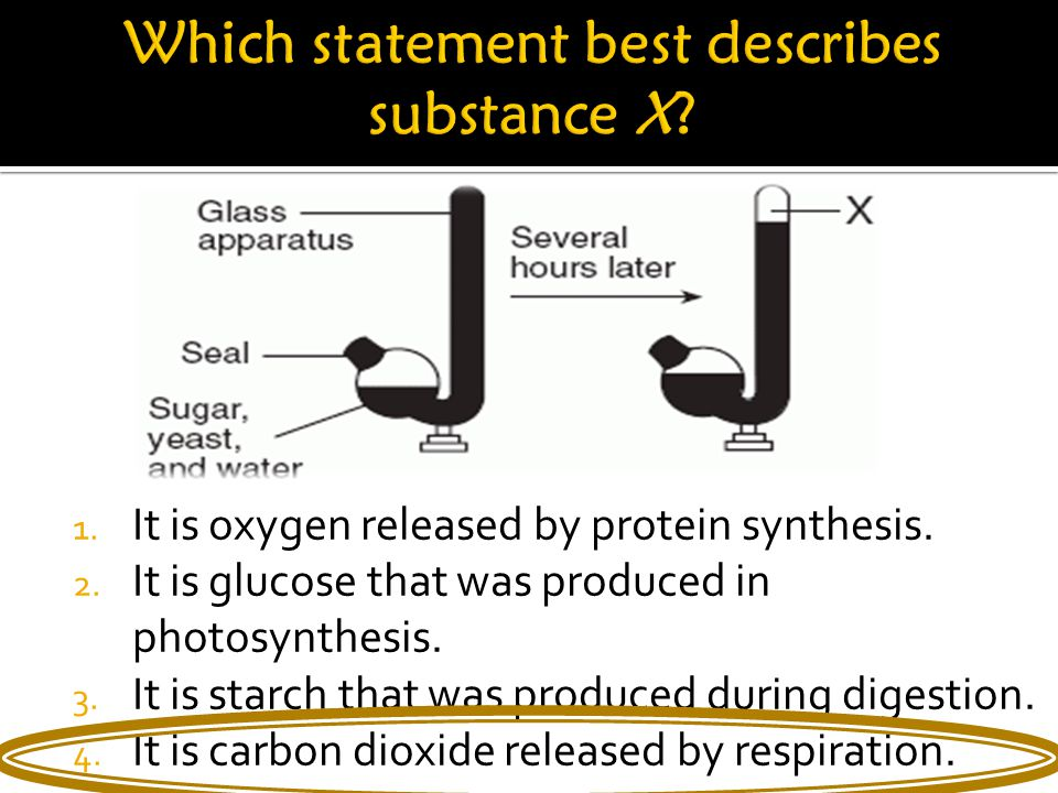 1. It is oxygen released by protein synthesis. 2.