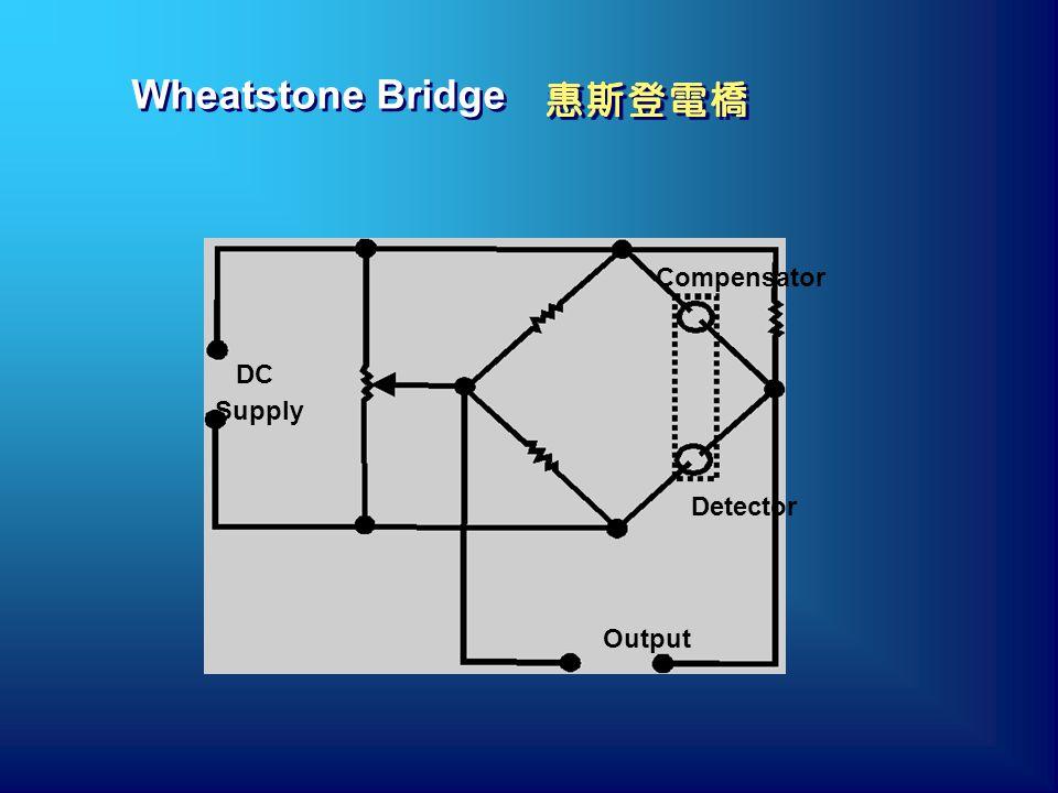 Wheatstone Bridge DC Supply Output Detector Compensator
