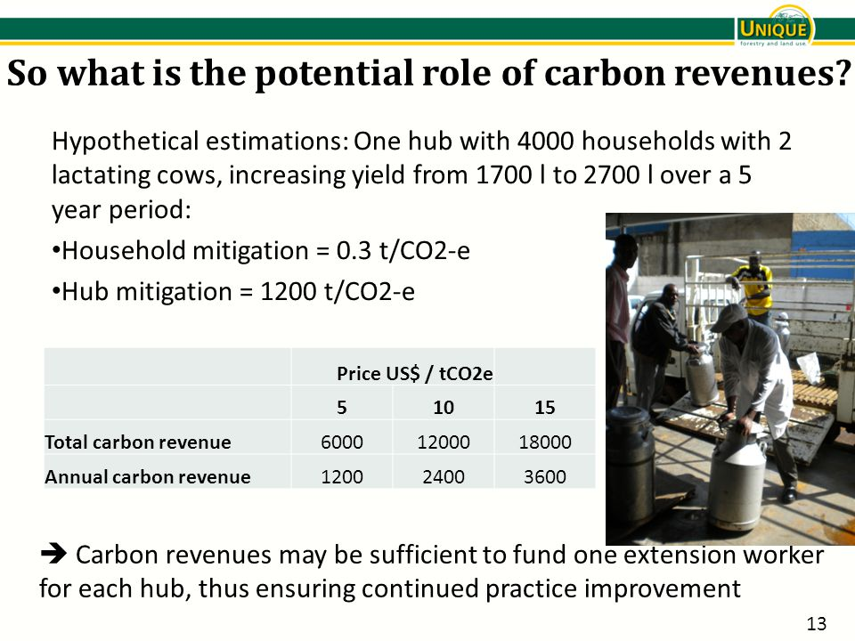 So what is the potential role of carbon revenues.