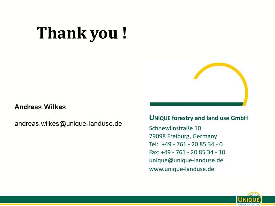 Thank you ! Andreas Wilkes andreas.wilkes@unique-landuse.de