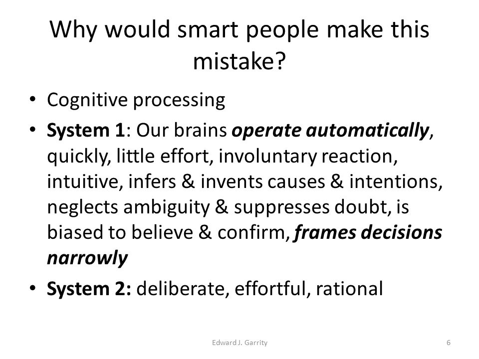 Why would smart people make this mistake.