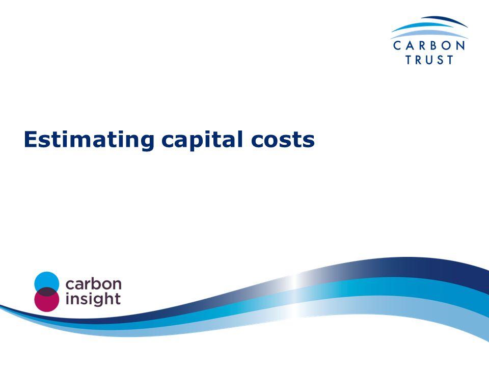 Estimating capital costs
