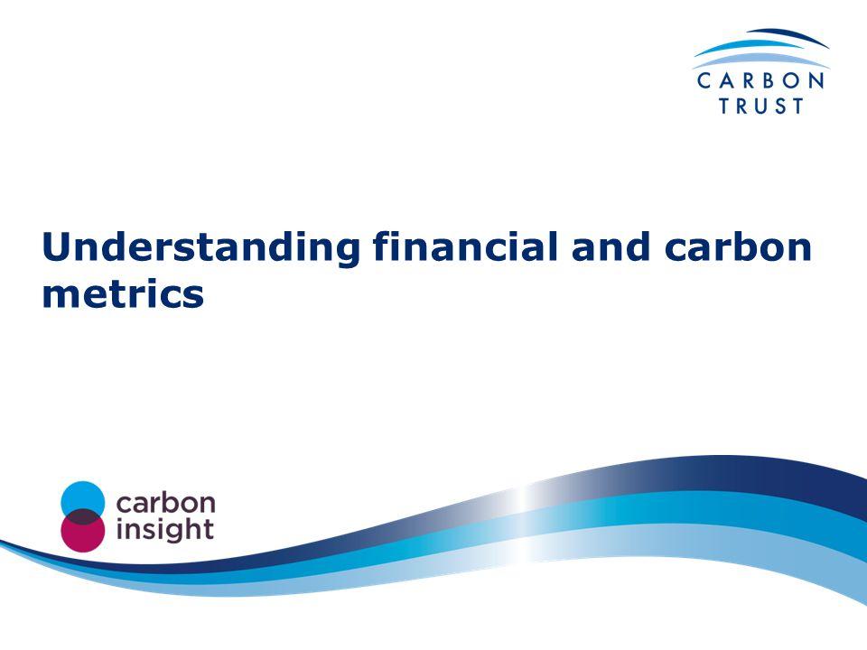 Understanding financial and carbon metrics