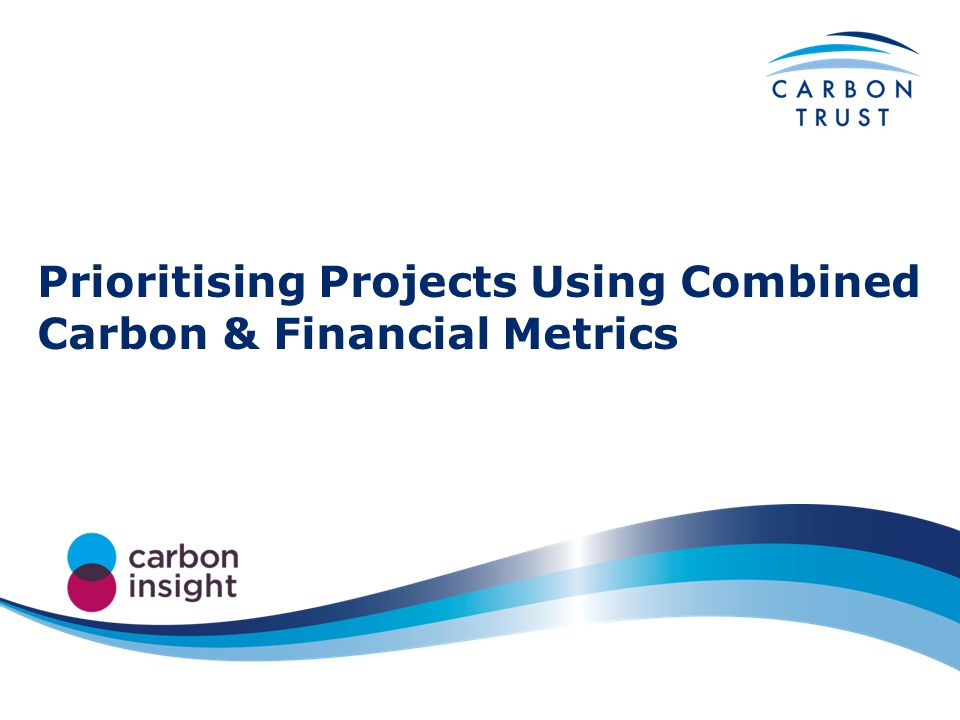 Prioritising Projects Using Combined Carbon & Financial Metrics