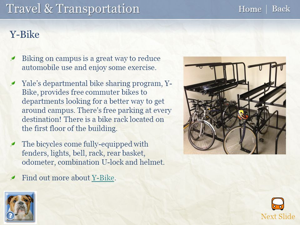 Biking on campus is a great way to reduce automobile use and enjoy some exercise.