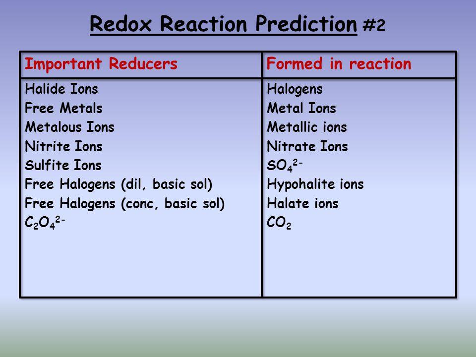 Redox Reaction Prediction #2