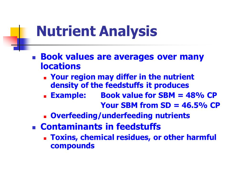 In vivo methodology Metabolism Trial Calculation: [(In – Out)/In] * 100 Nutrient retention = Nutrient intake – Nutrient excretion (Urine + Feces) x 100 Nutrient intake