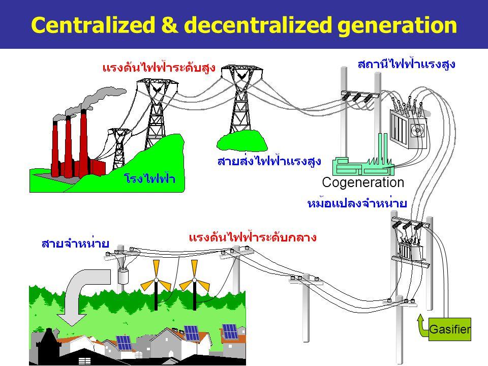 Centralized & decentralized generation Gasifier Cogeneration