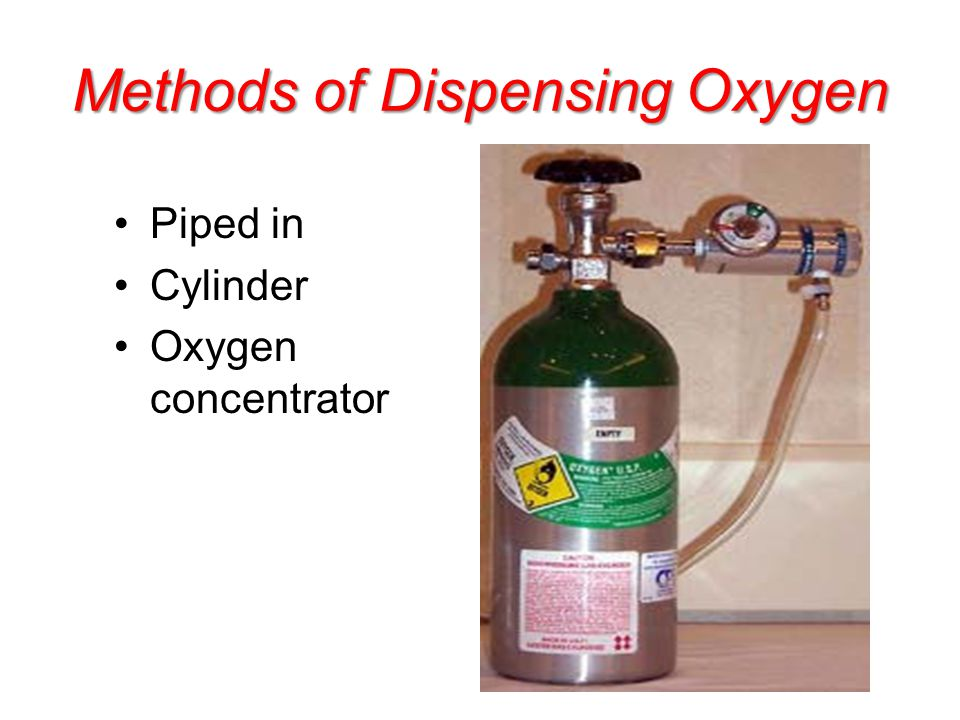 Methods of Dispensing Oxygen Piped in Cylinder Oxygen concentrator