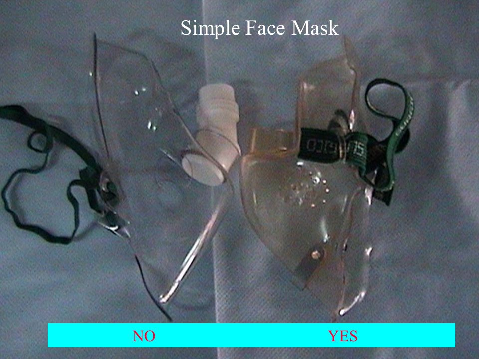 Simple face mask NO YES Simple Face Mask