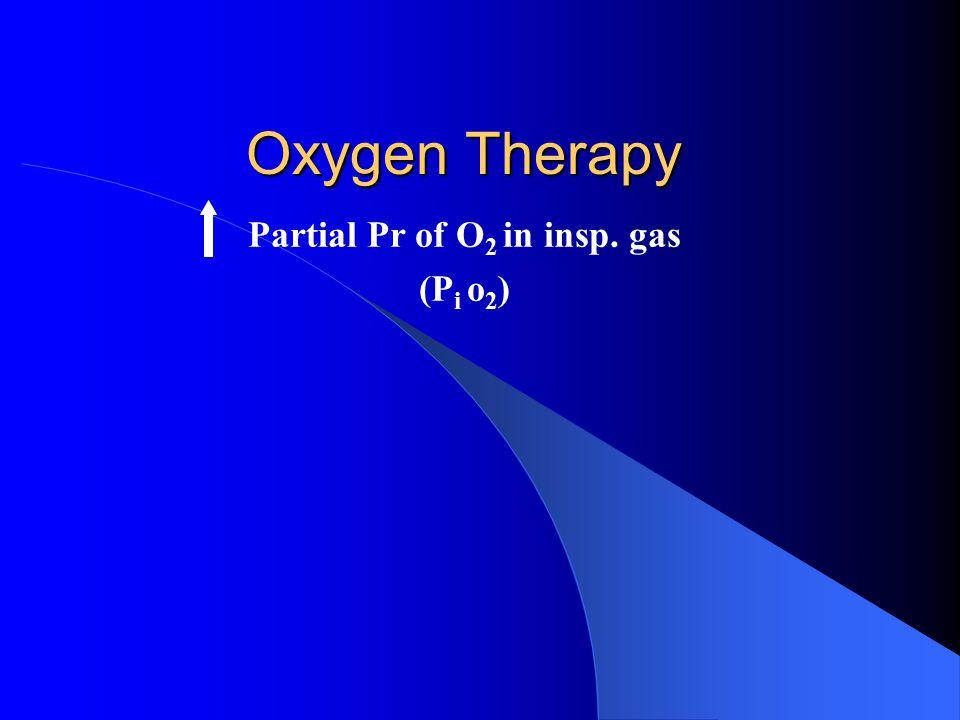 Partial Pr of O 2 in insp. gas (P i o 2 )