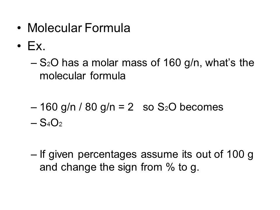 Molecular Formula Ex.