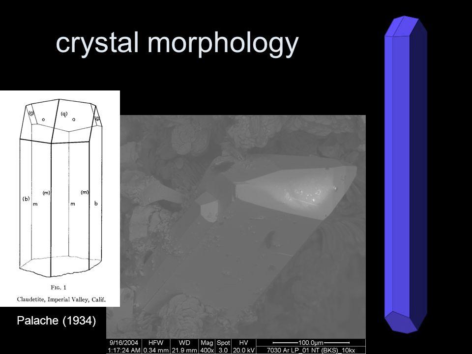 crystal morphology Palache (1934)