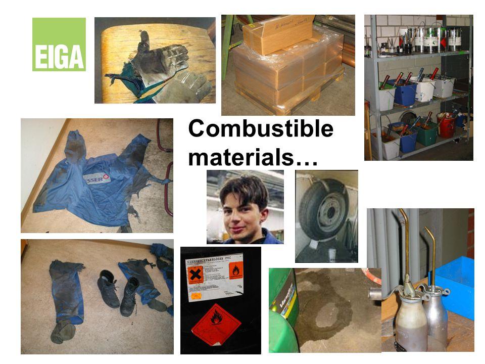 Combustible materials…