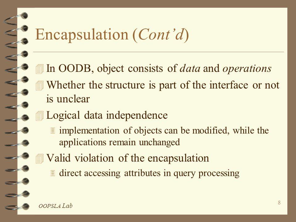 OOPSLA Lab 79 Comparisons among GemStone, O 2, Iris, ORION Summary