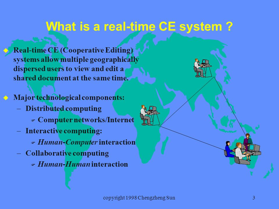 copyright 1998 Chengzheng Sun3 What is a real-time CE system .