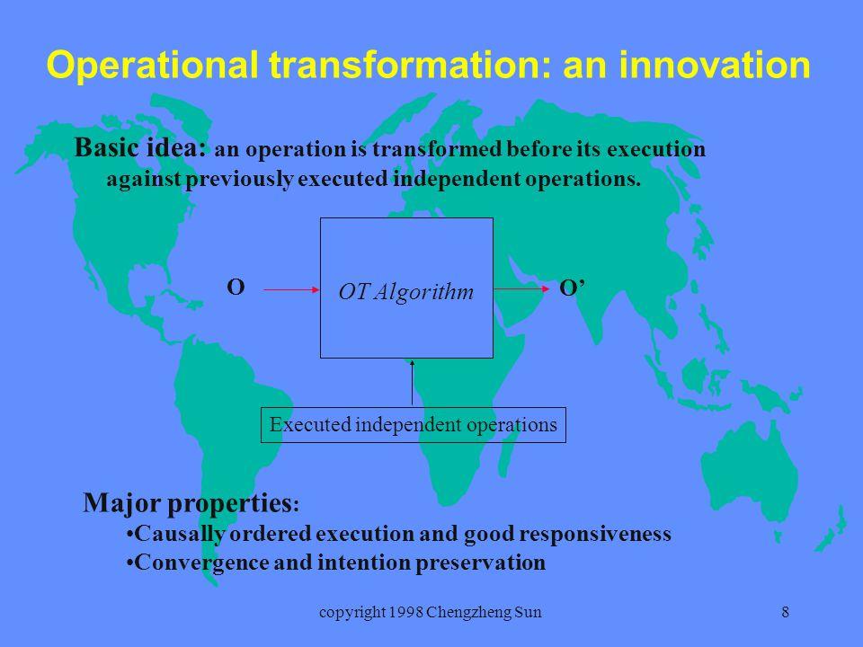 copyright 1998 Chengzheng Sun9 GROVE an dOPT algorithm Ellis et al.