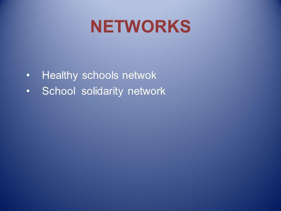 NETWORKS Healthy schools netwok School solidarity network