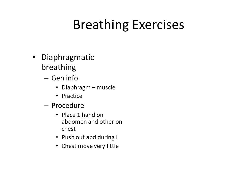 Oxygen Toxicity S&S Sub-sternal distress Chest pain Dry cough Paresthesia Dyspnea – Progressive Restlessness * PaO2 > 100mmHg