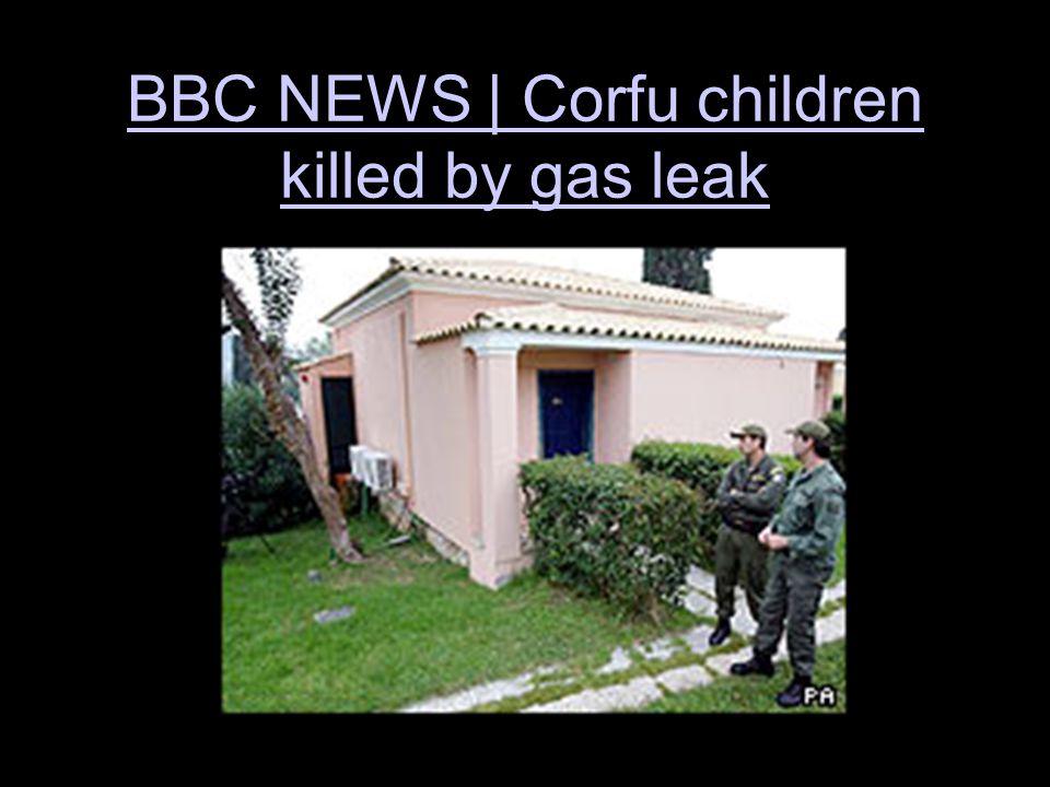 BBC NEWS | Corfu children killed by gas leak