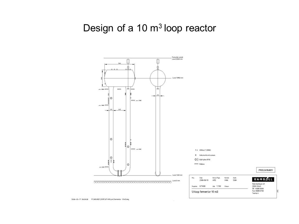 Design of a 10 m 3 loop reactor