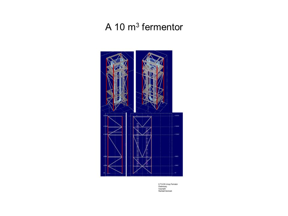 A 10 m 3 fermentor