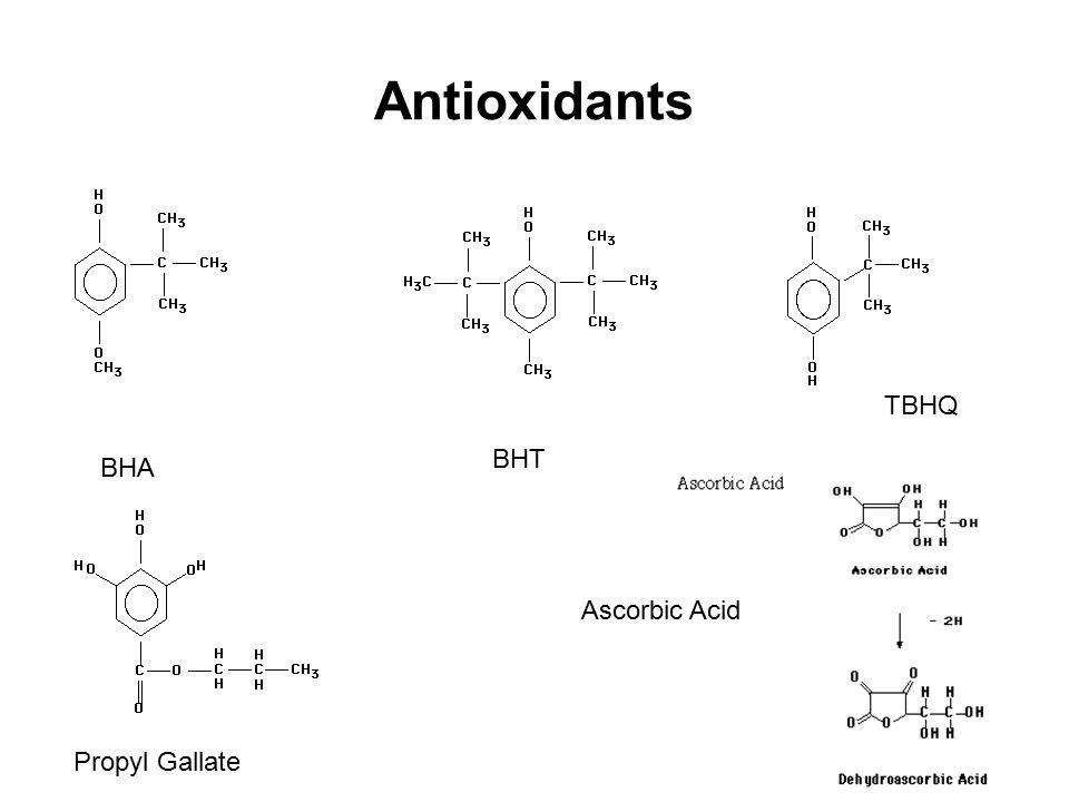Antioxidants BHA BHT TBHQ Propyl Gallate Ascorbic Acid