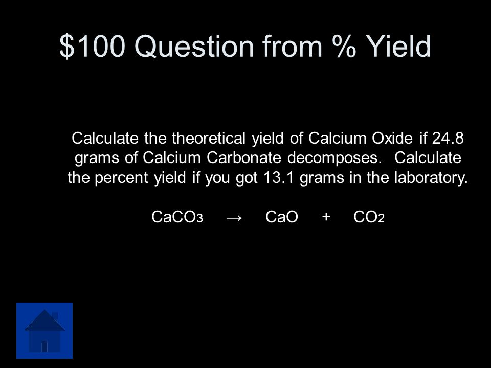 $500 Answer from Mass-Volume 497.8 L CO2