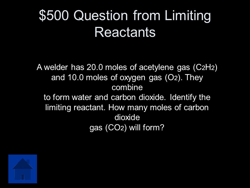 $400 Answer from Limiting Reactants 8.5g CH3OH