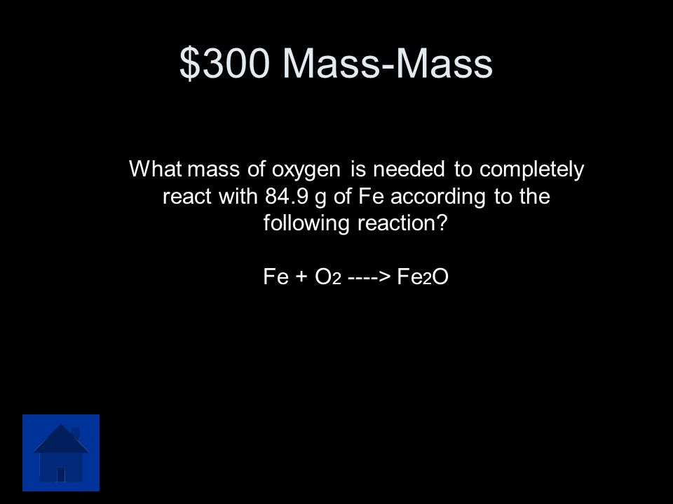 $300 Question from % Yield There are 100.0 grams of each reactant available.