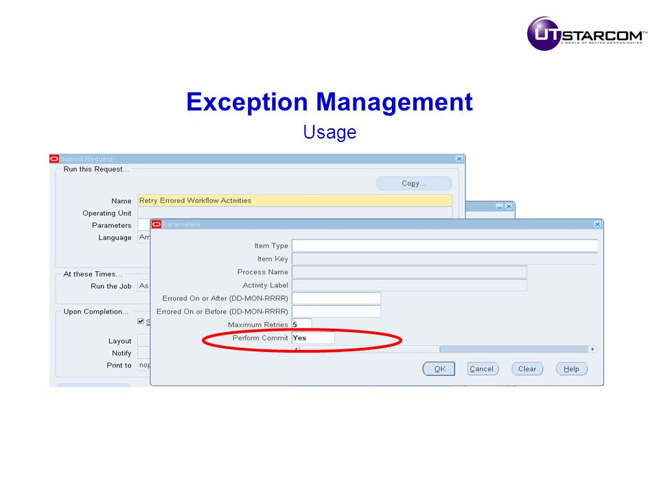 Exception Management Usage
