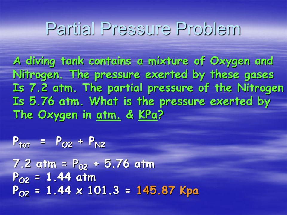 P tot = P He + P Ne + P ar P tot = 1 atm + 2 atm + 3 atm = 6 atm